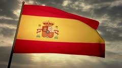 Flag Spain 05 Stock Footage