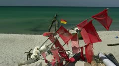 Ahrenshoop Beach - Baltic Sea, Northern Germany Stock Footage