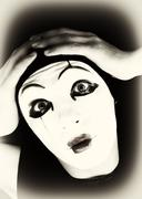 portret of the mime - stock photo