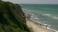 High Coast in Ahrenshoop - Baltic Sea, Northern Germany Stock Footage