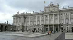 Royal Palace at Madrid Spain - architecture background Stock Footage