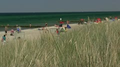Heiligendamm Beach - Baltic Sea, Northern Germany Stock Footage