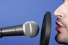 announcer - stock photo