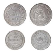 Isolated two ussr coins Stock Photos