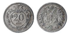 old austro-hungarian coin - stock photo