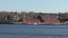 The Shipyard at the Mystic Seaport Museum Stock Footage