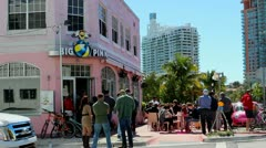 Big Pink - Miami Stock Footage