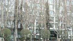 Spain Square in Madrid - Don Quijote and Sancho Panza (Spain) Stock Footage