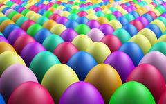 Endless easter eggs Stock Illustration