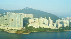 Aerial View of Condominiums Hong Kong Island  - stock footage