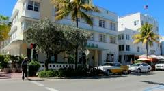 Stock Video Footage of Ocean Drive Miami Florida