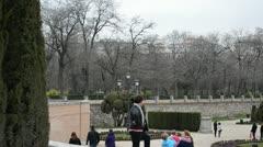 The Buen Retiro Park. Madrid. Stock Footage