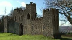 City of Bath Sham Castle Stock Footage