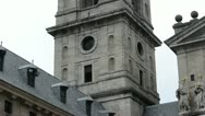 Stock Video Footage of Royal Monastery of San Lorenzo de el Escorial. Madrid, Spain.