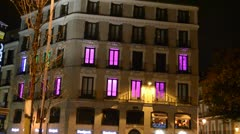Hotel on the area of Madrid. Stock Footage