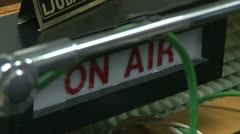 Radio station on air - stock footage
