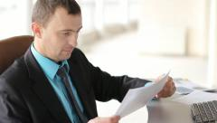 businessman at work - stock footage