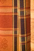 tartan pattern fabric - stock photo