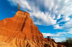 Towering Red Rock Formation - stock photo