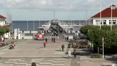 Pier in Sopot - Poland Stock Footage