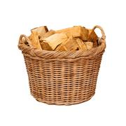 log basket - stock photo
