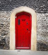 Stock Photo of stage door