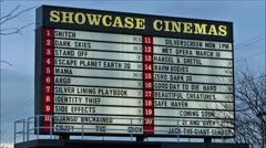 Cinema movie theather marquee 2013 Stock Footage