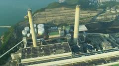Aerial View Lamma Power Station, Hong Kong Stock Footage