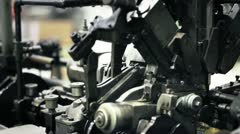 Old machine industrial. Slow motion Stock Footage
