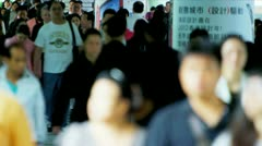 Time Lapse Asian Streets Busy with Commuters Stock Footage