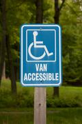 Van Accessible Disabled Parking Sign - stock photo