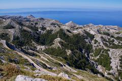 biokovo panorama - stock photo