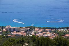 holiday resort tucepi - stock photo