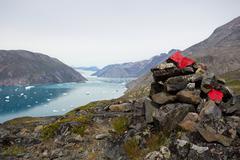qooroq icefjord - stock photo