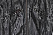 Black leather and zippers Stock Photos