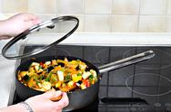 Vegetarian cooking Stock Photos