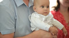 Stock Video Footage of christening