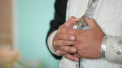 Hands of  priest in the Church Stock Footage