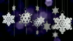 Loopable snowflake ornaments with alpha channel Stock Footage