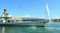 Geneva boat - PART 1 Stock Footage