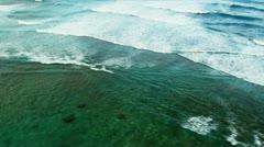 Aerial view of Ocean waves Stock Footage
