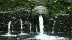 Holy water spring closeup Tampaksiring Bali Indonesia Stock Footage