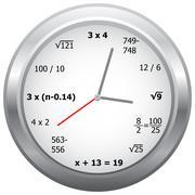 Mathematics Clock - stock illustration