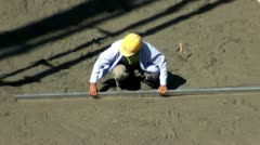 Spackler, Construction Workers, Cement, Concrete Stock Footage