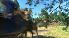Tartars on horseback, a historical re-enactment 2 Stock Footage