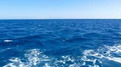Boat wake prop wash foam Stock Footage