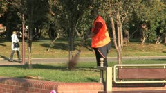 Street cleaning in Grodno Stock Footage