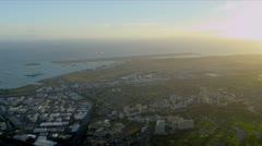 Aerial view of coastal Hawaii Stock Footage