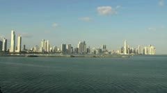 Panama City skyline sunset - stock footage