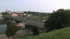 View of the river in Grodno Stock Footage